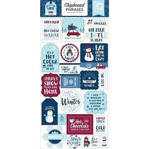 My Favorite Winter Phrases Chipboard