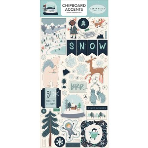 Snow Much Fun Accents Chipboard