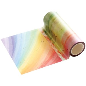 Rainbow with Splatters Washi Tape