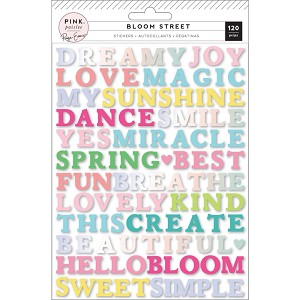 Bloom Street Puffy Word Stickers