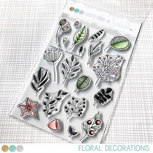 Floral Decorations Stamp Set
