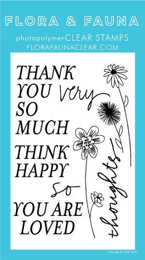 Thank You So Very Much Flowers Stamp Set