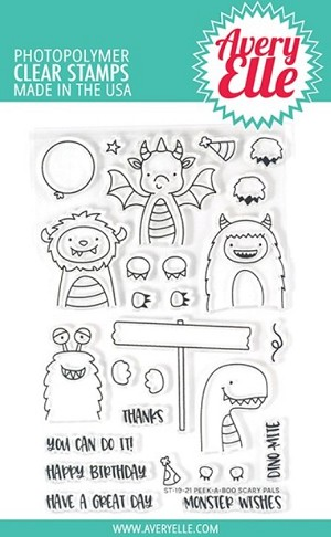 Peek-A-Boo Scary Pals Stamp Set