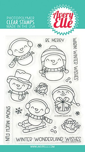Snow Fun Clear Stamps
