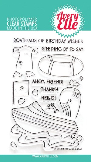Peek-A-Boo Boat Stamp Set