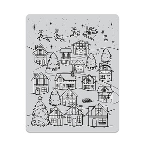 Winter Village Peek-A-Boo Stamp Set