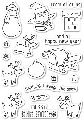 Dashing with Reindeer Stamp Set