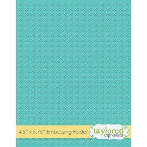 Cross Stitch Embossing Folder