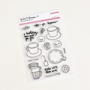 Coffee Art Stamp Set