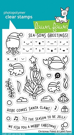 Christmas Fishes Stamp Set