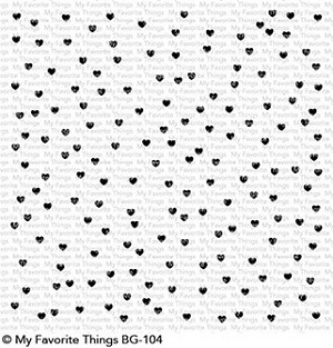 Scattered Hearts Background Stamp