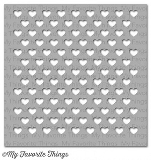 Staggered Hearts Mixables Stencil