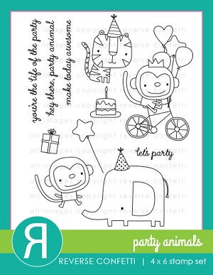 Party Animals Stamp Set