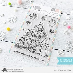 Oh Penguin Tree Stamp Set