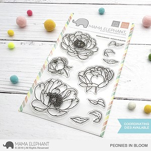 Peonies In Bloom Stamp Set
