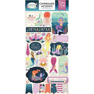 Mermaid Dreams Accents Chipboard Stickers