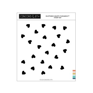 Scattered Hearts Turnabout Stamp