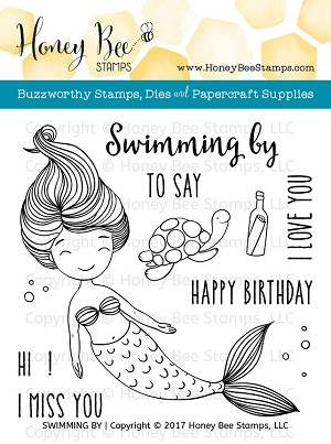 Swimming By Stamp Set