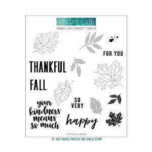 Thankful Leaves Turnabout Stamp Set