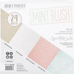 Luxury Embossed Cardstock 6x6 Mint Blush