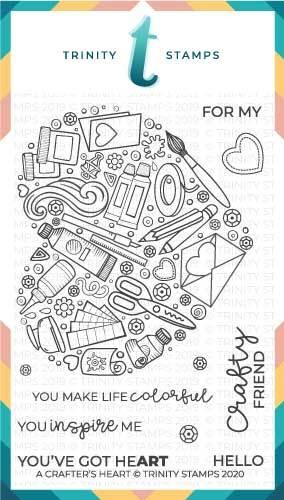 A Crafters Heart Stamp Set